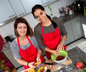 Lecker, schnell und einfach: Frau Elternplanet und Nadja Zimmermann haben gekocht