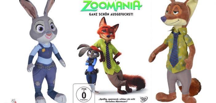 DVDs und Plüschtiere von Zoomania zu gewinnen